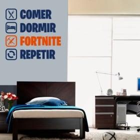 Vinyle et autocollants fortnite routine en espagnol