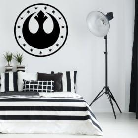 Vinyle et autocollants star wars symbole nouvelle république
