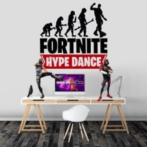Vinyle et autocollants fortnite hype dance