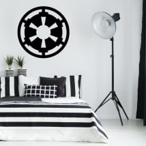 Vinyle et autocollants star wars symbole de l'empire galactique