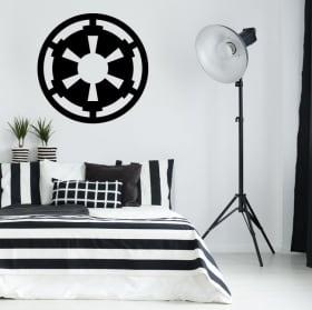 Vinyle et autocollants star wars symbole de l'empire galactique
