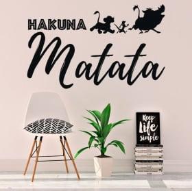 Vinyle et autocollants phrase le roi lion hakuna matata