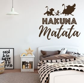 Vinyle décoratif phrases le roi lion hakuna matata