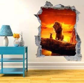 Vinyle décoratif 3d le roi lion