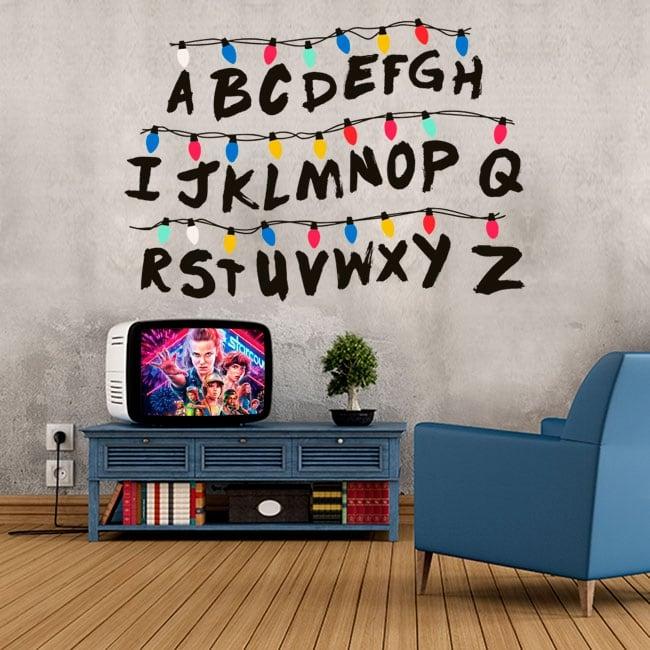 Vinyle et autocollants alphabet stranger things