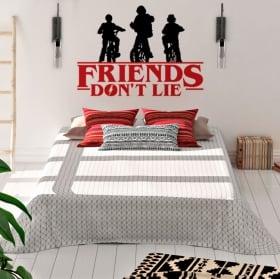 Vinyle et autocollants stranger things friends don't lie