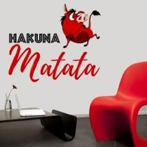 Vinyle et autocollants phrase hakuna matata