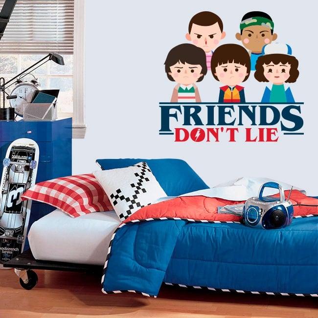Vinyle décoratif stranger things friends don't lie