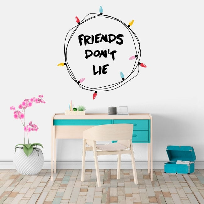 Vinyle adhésif stranger things friends don't lie