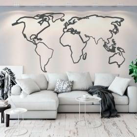 Vinyle et autocollants carte du monde coups