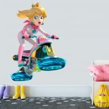 Vinyle et autocollants princesse mario kart