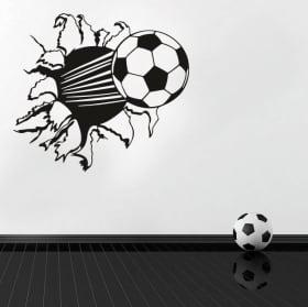 Vinyle et autocollants ballon de football effet 3d