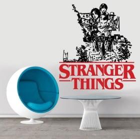 Vinyle et autocollants stranger things