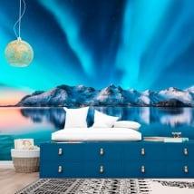 Papier peint vinyle aurora borealis norvège