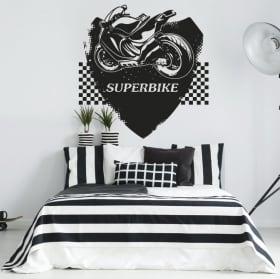 Vinyles et autocollants motos superbike