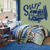 Vinyles et autocollants surf the wave