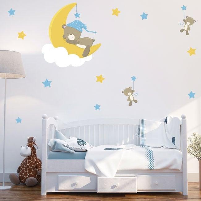 Vinyle et autocollants pour enfants ou bébés ours doux rêves