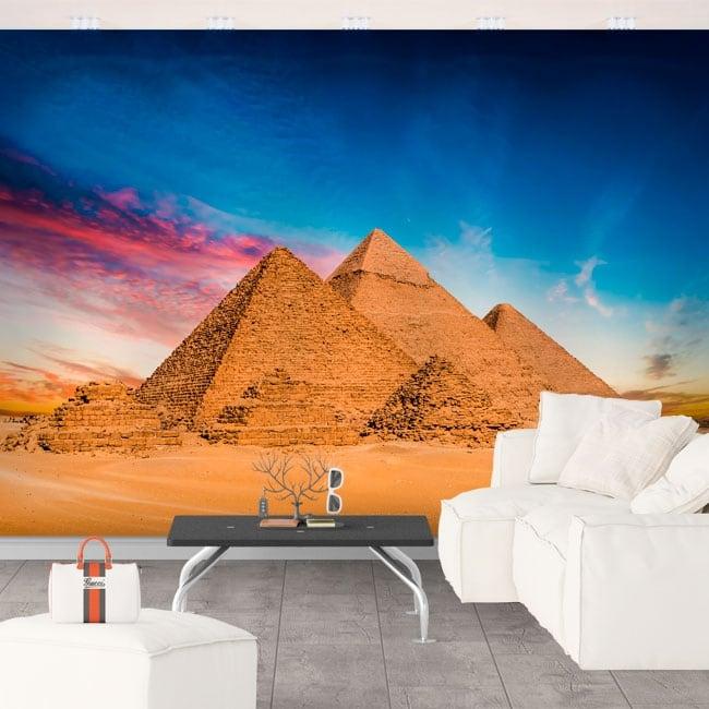 Papier peint vinyle des pyramides de gizeh