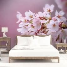 Papiers peints en vinyle fleur de cerisier japonais