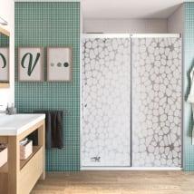 Vinyle décoratif pour écrans de salle de bain