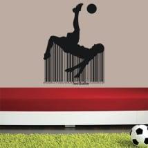 Vinyle et autocollants football de codes à barres