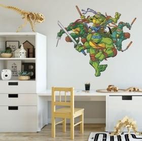 Autocollants en vinyle les tortues ninja