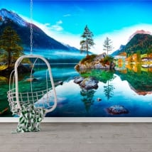 Murales en vinyle allemagne aube lac hintersee