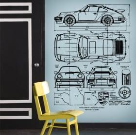 Autocollants et vinyle porsche petro blueprints