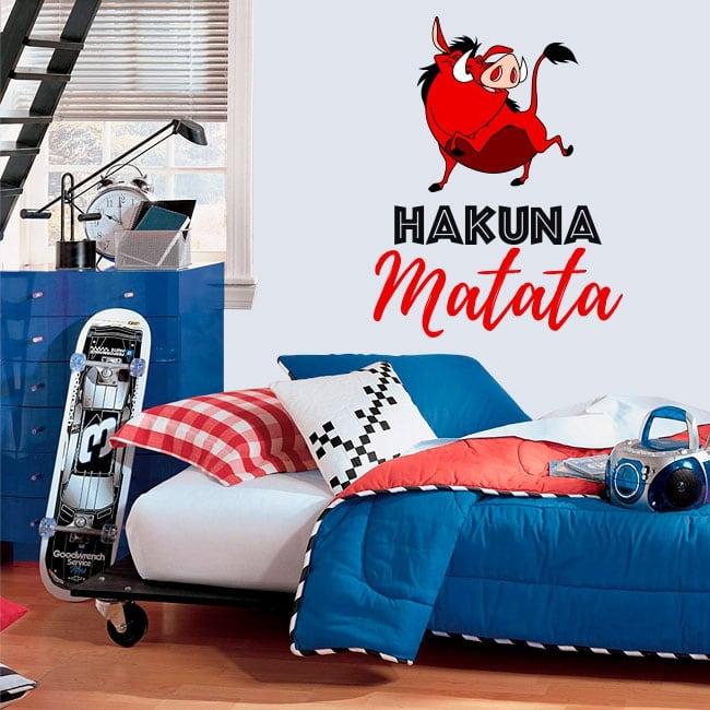 Vinyle décoratif et autocollants phrases hakuna matata