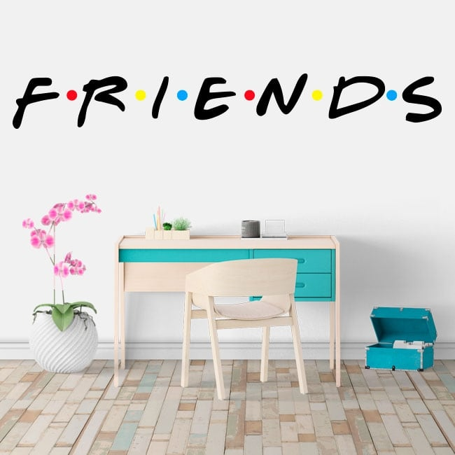 Autocollants et vinyle netflix logo série friends
