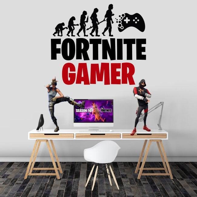 Vinyle et autocollants fortnite gamer