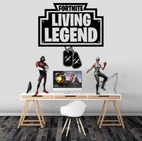 Vinyle et autocollants fortnite living legend