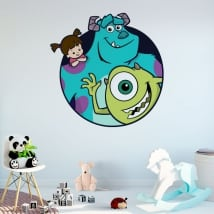Vinyle et autocollants disney monsters university
