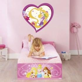 Vinyle et autocollants disney princesse rapunzel