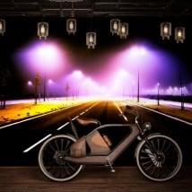 Papiers peints en vinyle lumières sur la route