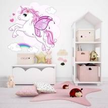 Vinyle décoratif et autocollants avec des licornes