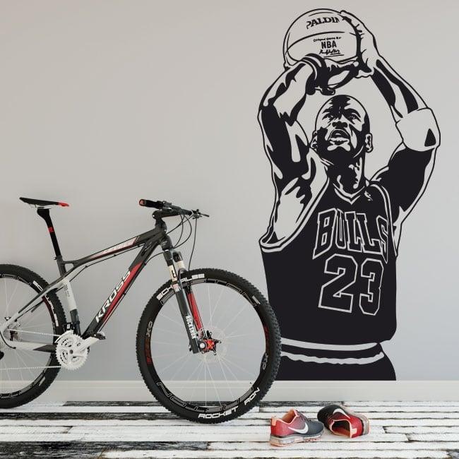 Vinyle et autocollants michael jordan basket-ball