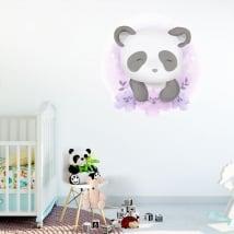 Vinyle et autocollants pour enfants ou bébés ours panda