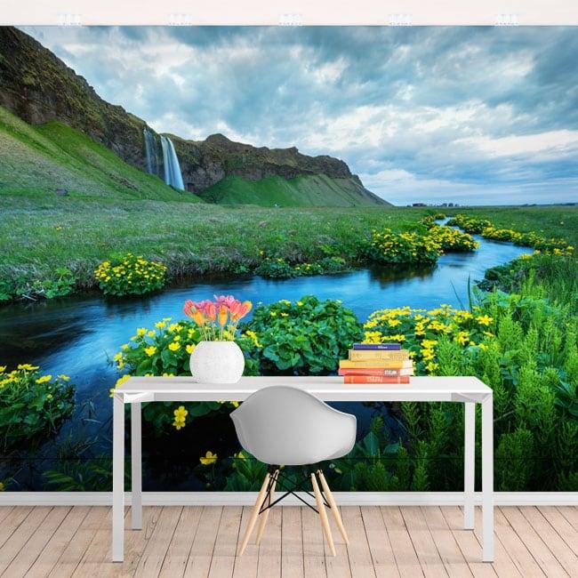 Papiers peints cascades de seljalandsfoss islande