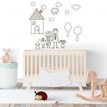 Vinyle décoratif ou autocollants dessin d'enfants