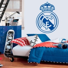 Vinyles et autocollants de football bouclier du real madrid