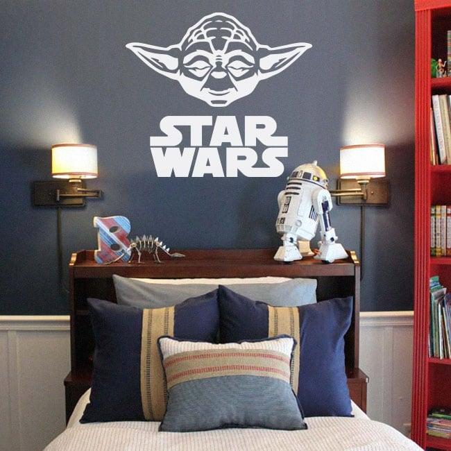 Vinyle décoratif et autocollants yoda star wars