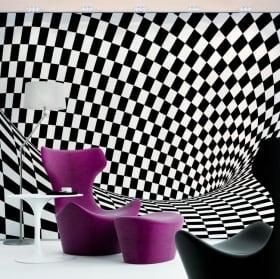 Papiers peints en vinyle effet optique
