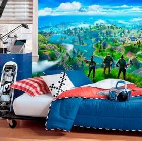 Peintures murales jeu vidéo fortnite