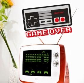 Vinyle et autocollants jeux video game over