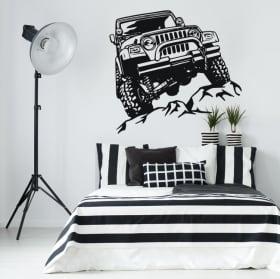 Vinyle décoratif et autocollants jeep offroad