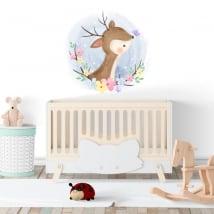 Vinyle et autocollants pour les bébés bambi avec papillon