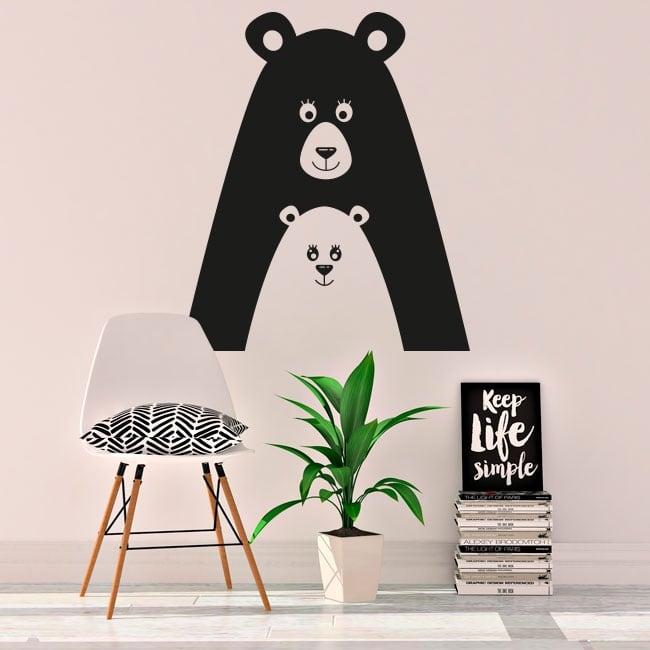 Vinyle et autocollants ours amoureux