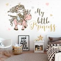 Vinyle et autocollants pour enfants princesse avec licorne