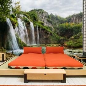 Papiers peints en vinyle paysage avec cascades